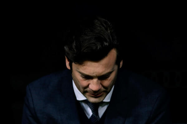 Head coach Santiago Solari of Real Madrid CF sits on the bench prior to start the La Liga match between Real Madrid CF and FC Barcelona at Estadio Santiago Bernabeu on March 02, 2019 in Madrid, Spain.  (March 1, 2019 - Source: Gonzalo Arroyo Moreno/Getty Images Europe)