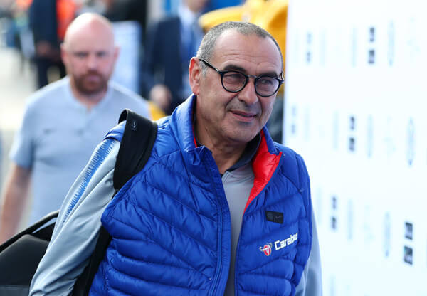 Maurizio Sarri, Manager of Chelsea arrives prior to the Premier League match between Chelsea FC and Manchester United at Stamford Bridge on October 20, 2018 in London, United Kingdom.  (Oct. 19, 2018 - Source: Clive Rose/Getty Images Europe
