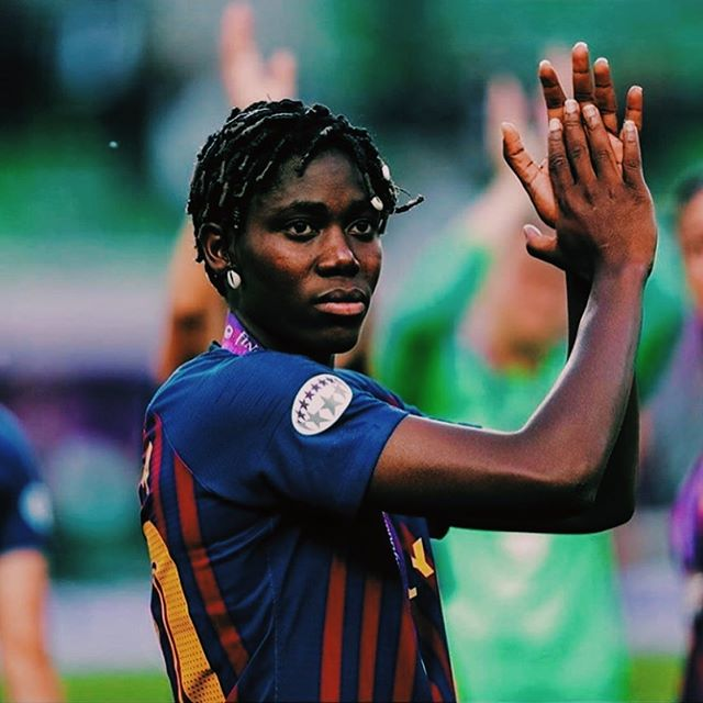 Huge congrats to Naija 🇳🇬 and @fcbfemeni forward @asisat_oshoala who became the first African to both play and score in a UEFA Women's Champions League final. Can't wait to see her light it up in France next month at the World Cup.