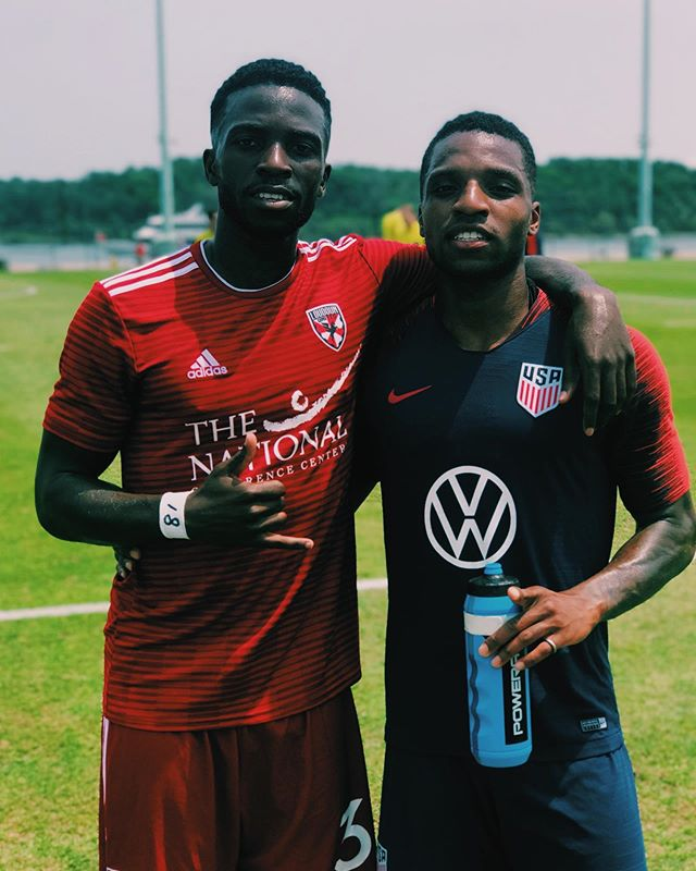 @usmnt prevail 3-2 in a friendly against @loudoununitedfc. Love seeing the Day 1 bros thriving ✊🏿 #DMVSoccer #DMVLegends #usmt #usl
