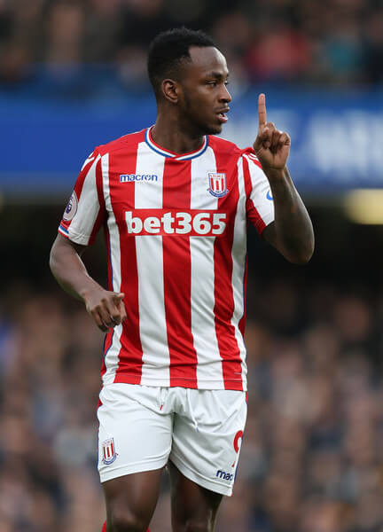 Saido Berahino of Stoke City during the Premier League match between Chelsea and Stoke City at Stamford Bridge on December 30, 2017 in London, England.  (Dec. 29, 2017 - Source: Catherine Ivill/Getty Images Europe)