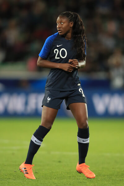 Kadidiatou Diani of France during the friendly match between France Women and Australia Women at Stade Geoffroy-Guichard on October 5, 2018 in Saint-Etienne, France.  (Oct. 4, 2018 - Source: Marc Atkins/Getty Images Europe)
