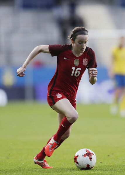 Rose Lavelle of USA during the international friendly between Sweden and USA at Ullevi Stadium on June 8, 2017 in Gothenburg, Sweden.  (June 7, 2017 - Source: Nils Petter Nilsson/Ombrello/Getty Images Europe)