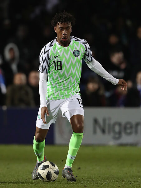 Alexander Iwobi of Nigeria in action during the International Friendly match between Nigeria and Serbia at The Hive on March 27, 2018 in Barnet, England.  (March 26, 2018 - Source: Matthew Lewis/Getty Images Europe)