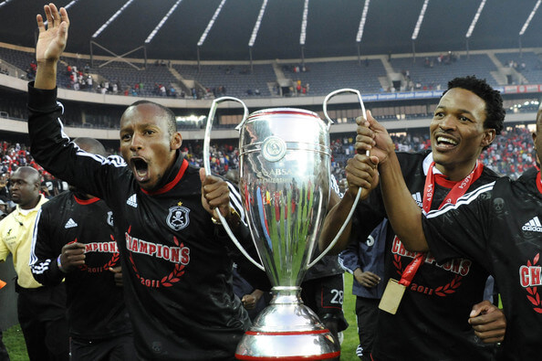 Orlando Pirates celebrate winning the Absa Premiership Final match against Golden Arrows at Orlando Stadium on May 21, 2011 in Soweto, South Africa.  (May 20, 2011 - Source: Gallo Images/Getty Images Europe)