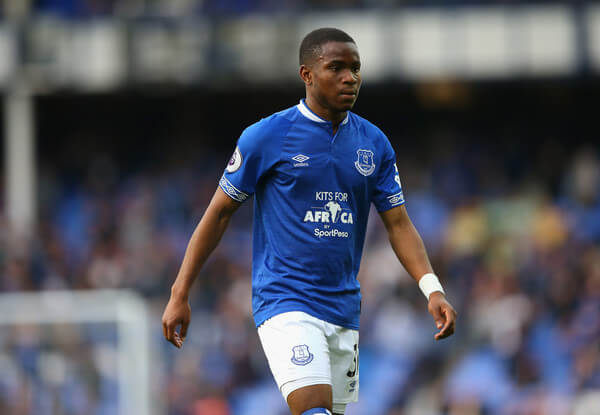 Ademola Lookman of Everton looks on during the Premier League match between Everton FC and West Ham United at Goodison Park on September 16, 2018 in Liverpool, United Kingdom.  (Sept. 15, 2018 - Source: Alex Livesey/Getty Images Europe)