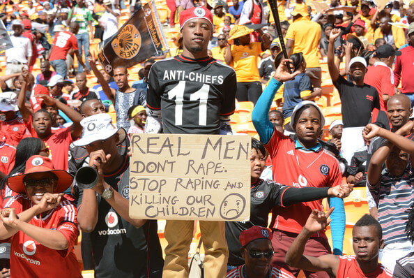 Fans during the Absa Premiership match between Orlando Pirates and Kaizer Chiefs at FNB Stadium on October 26, 2013 in Soweto, South Africa.  (Oct. 25, 2013 - Source: Gallo Images/Getty Images Europe)