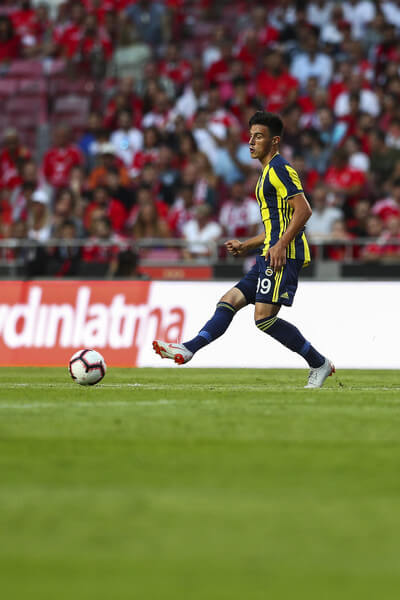Eljif Elmas of Fenerbache SK during the match between SL Benfica and Fenerbache SK for UEFA Champions League Qualifier at Estadio da Luz on August 7, 2018 in Lisbon, Portugal.  (Aug. 6, 2018 - Source: Carlos Rodrigues/Getty Images Europe)