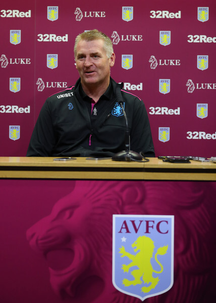 Dean Smith manager of Aston Villa during a press conference at Villa Park Stadium on October 15, 2018 in Birmingham, England.  (Oct. 14, 2018 - Source: Catherine Ivill/Getty Images Europe)