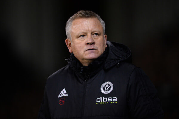 Chris Wilder manager of Sheffield United looks on during the Sky Bet Championship match between Sheffield United and Sheffield Wednesday at Bramall Lane on January 12, 2018 in Sheffield, England.  (Jan. 11, 2018 - Source: Nathan Stirk/Getty Images Europe)