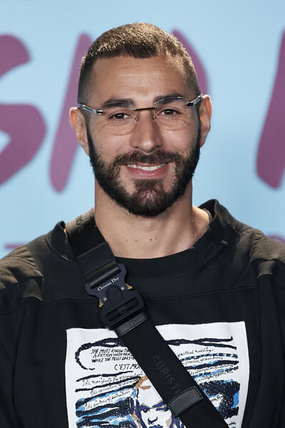 """Karim Benzema attends """"El Corazon de Sergio Ramos"""" premiere at the Reina Sofia museum on September 10, 2019 in Madrid, Spain.  (Sept. 9, 2019 - Source: Getty Images Europe)"""