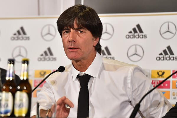 German national football team coach Joachim Loew gives a press conference on the eve of the friendly match against Italy in Milan on November 14, 2016. / AFP / GIUSEPPE CACACE  (Nov. 13, 2016 - Source: AFP)