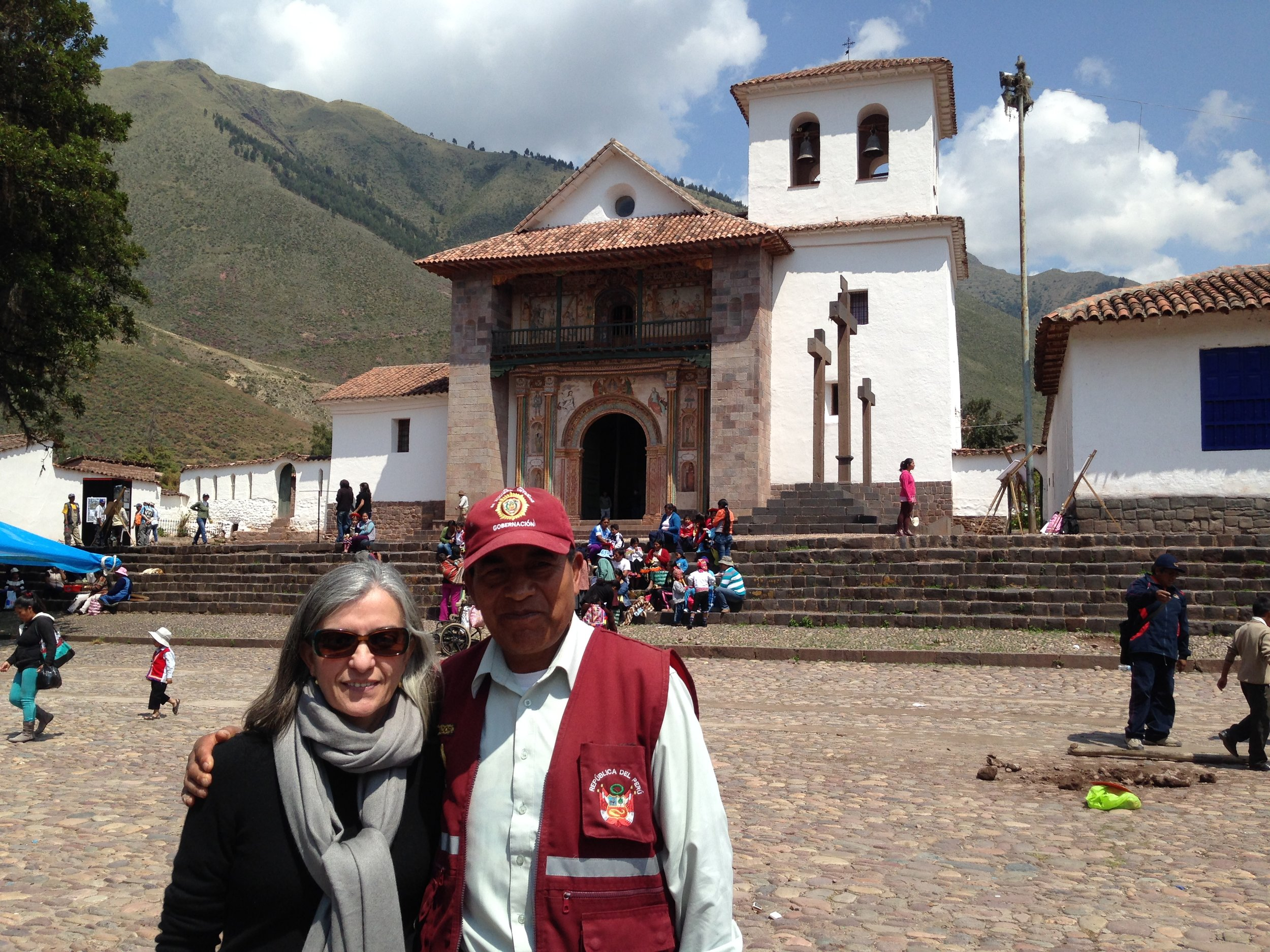 Author in Andahuaylillas, Cusco