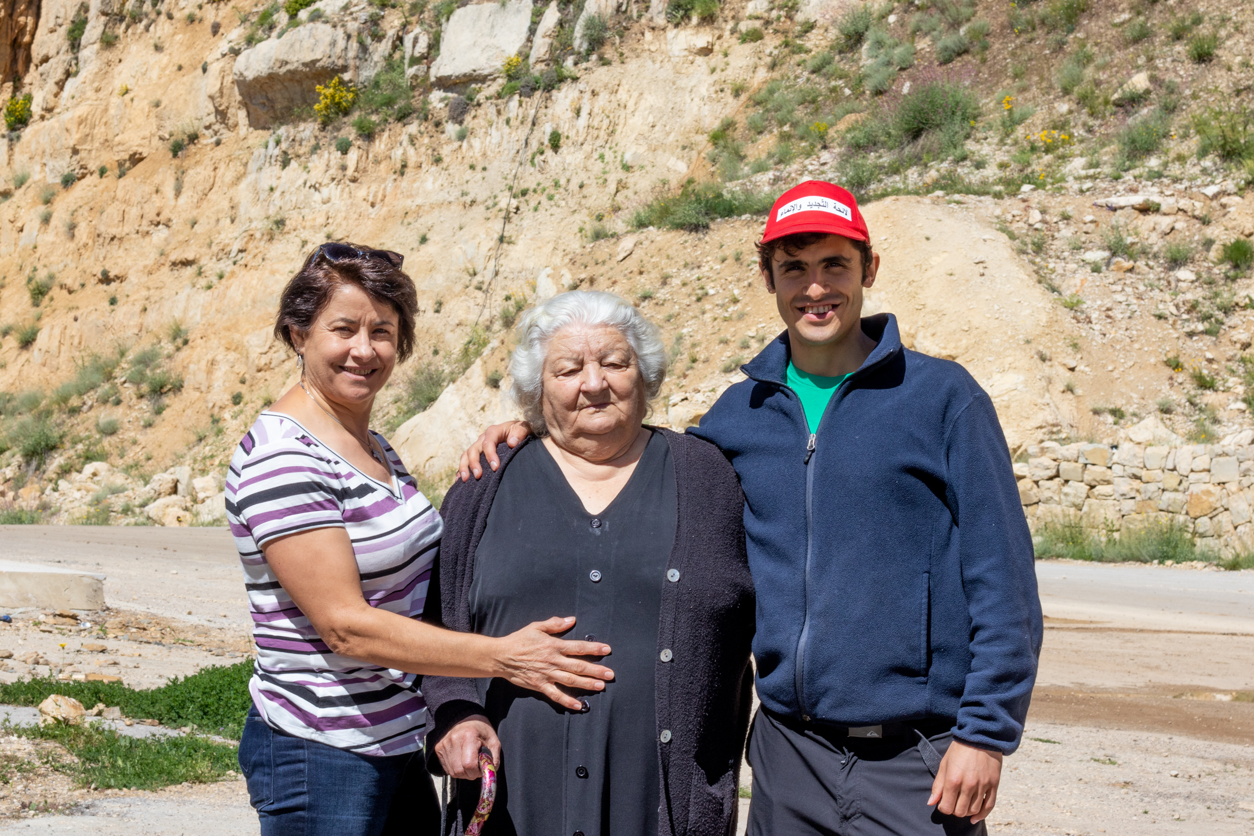 Visiting Church w/ Grandma & Mom
