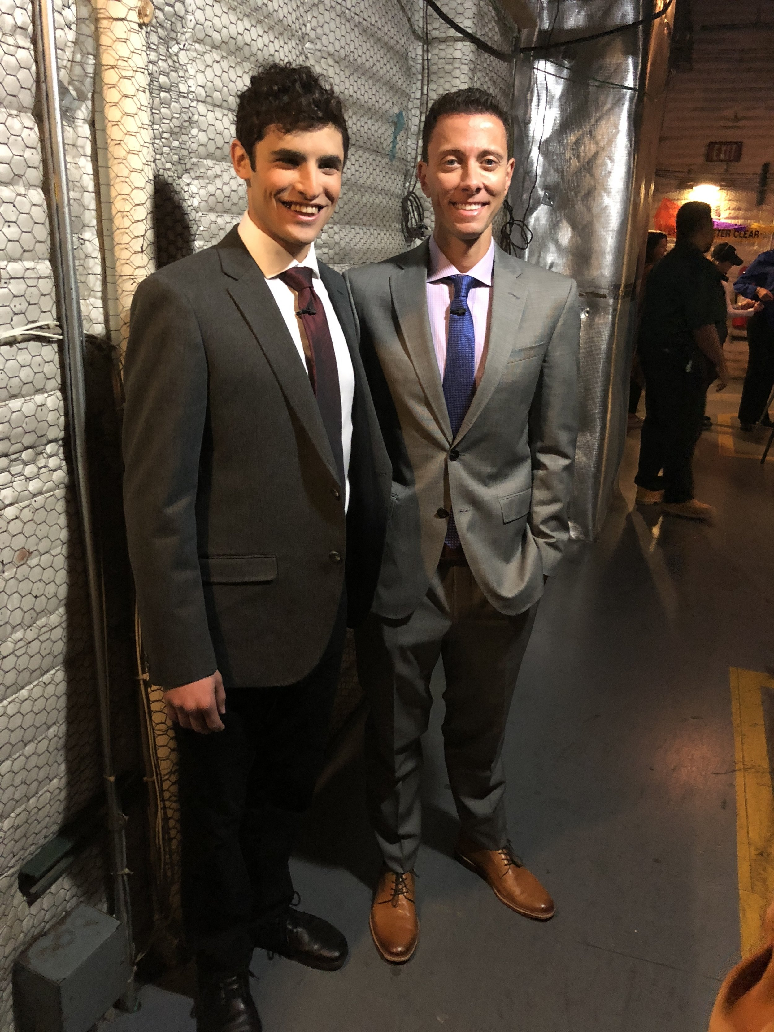 Dr. Peled and I backstage for The Doctors. Still swollen.