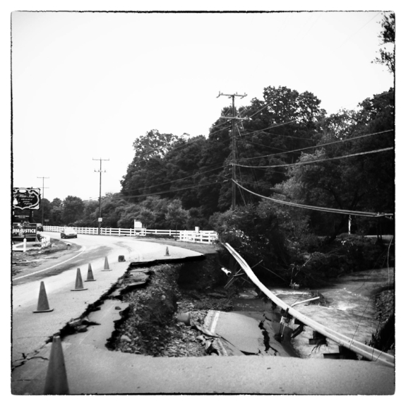 Shot with my Roleiflex 6x6 TLR: Section of road at route 60 and 92.