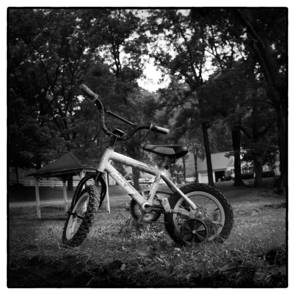 Shot with my Rolleiflex 6x6 TLR:The area where many homes were destroyed, I found this bicycle that someone had stood back up, it was the only thing still intact.
