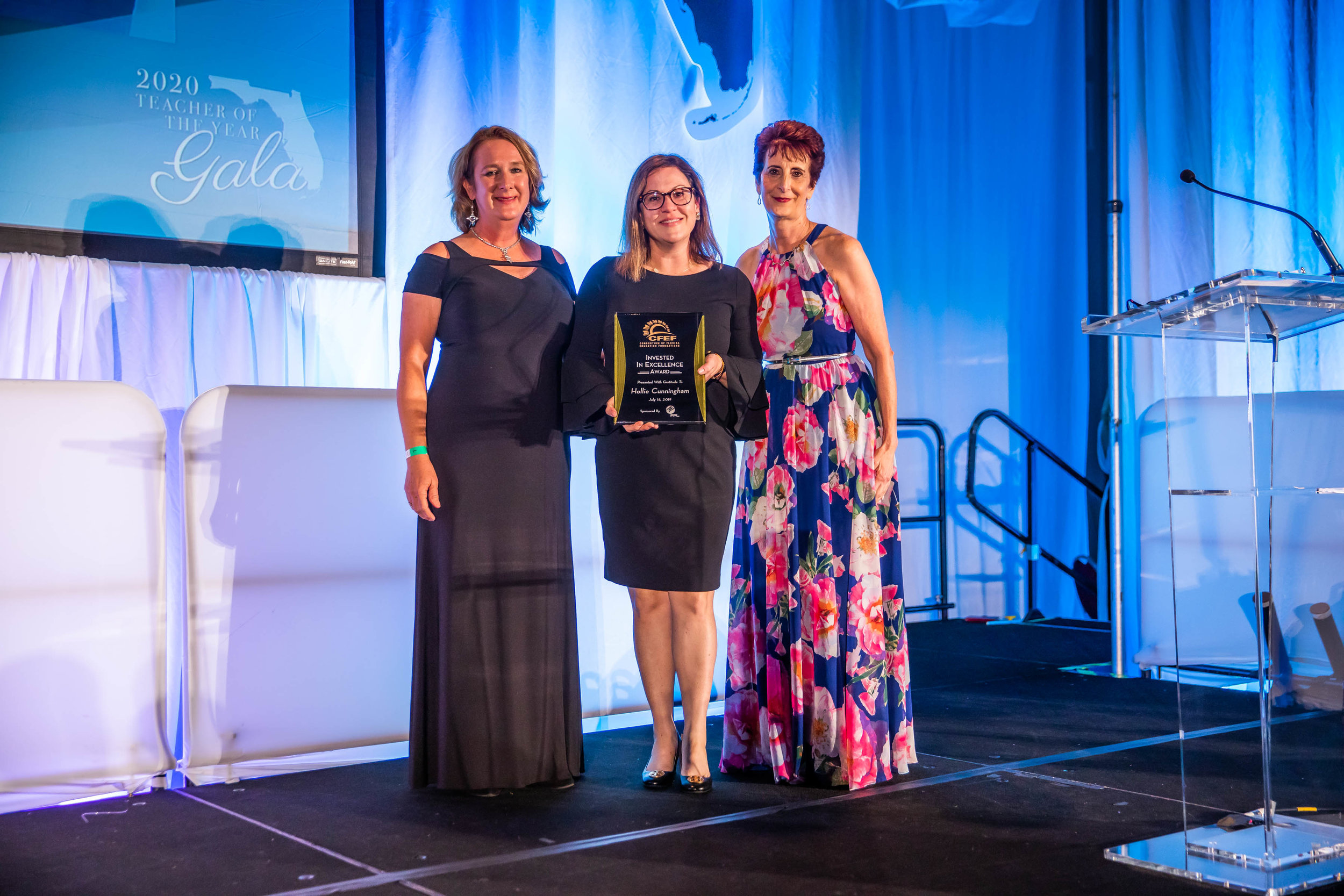 2019 CFEF INVESTED IN EXCELLENCE AWARD - HOLLIE MARIE CUNNINGHAM, MARION COUNTYPresented by Cynthia Falardeau, Executive Director for the Education Foundation of Indian River County, and Maureen Wilt, Senior Education Program Manager Florida Power & Light Company