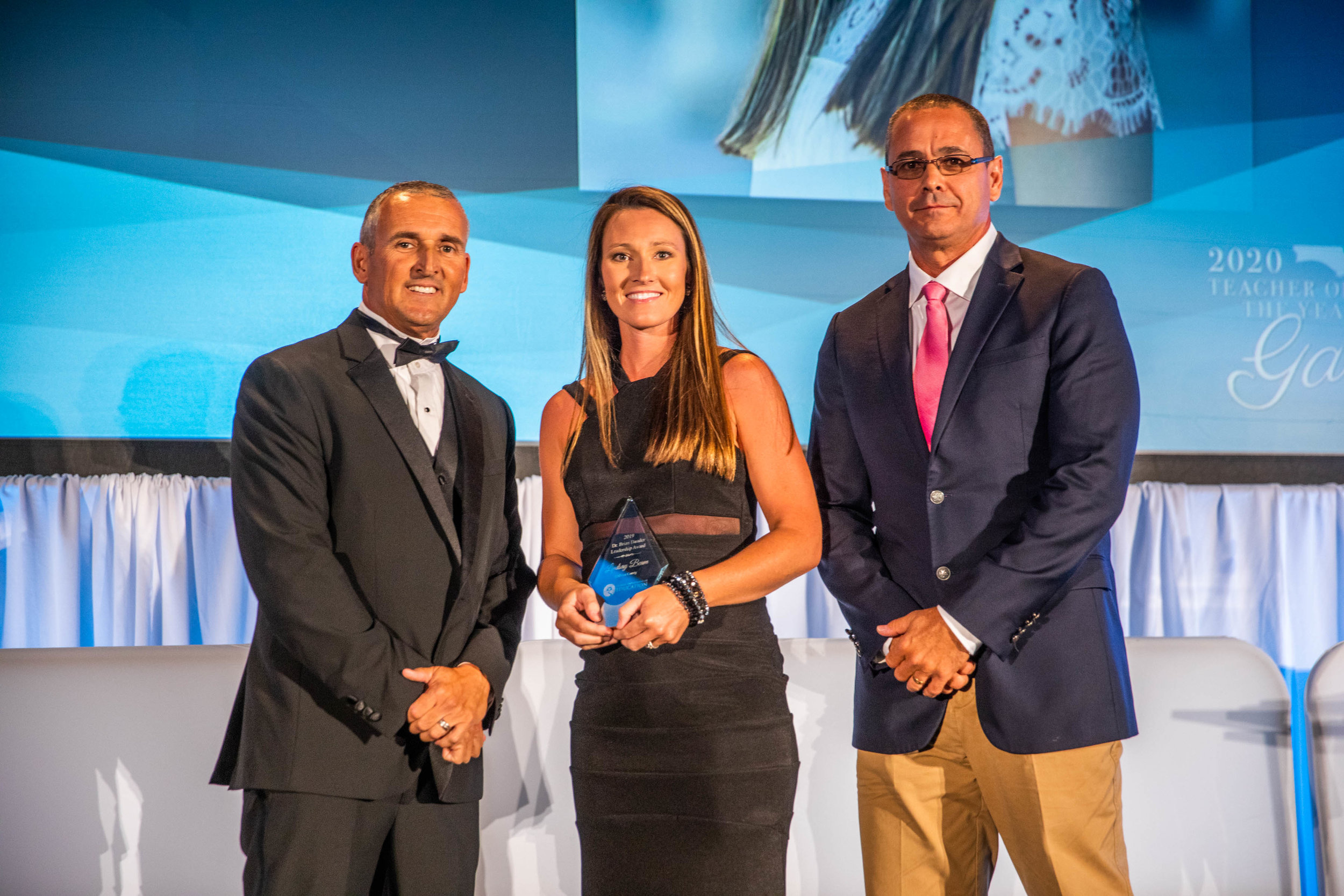 2019 DR. BRIAN DASSLER LEADERSHIP AWARD - LINDSAY BEAM, CALHOUN COUNTYPresented by Andy Tuck, chair of the State Board of Education, and 2017 Recipient Rob Patterson, Pasco County