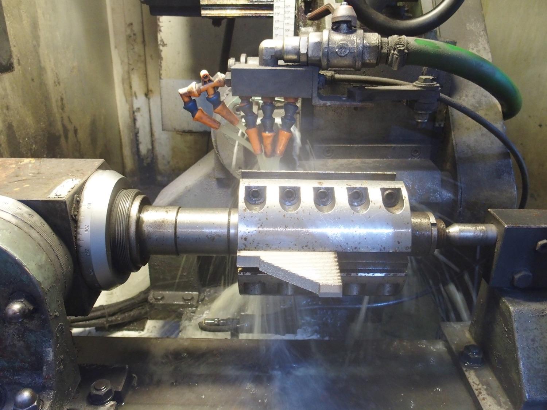 CNC Profile Grinder, detail. Click for larger image