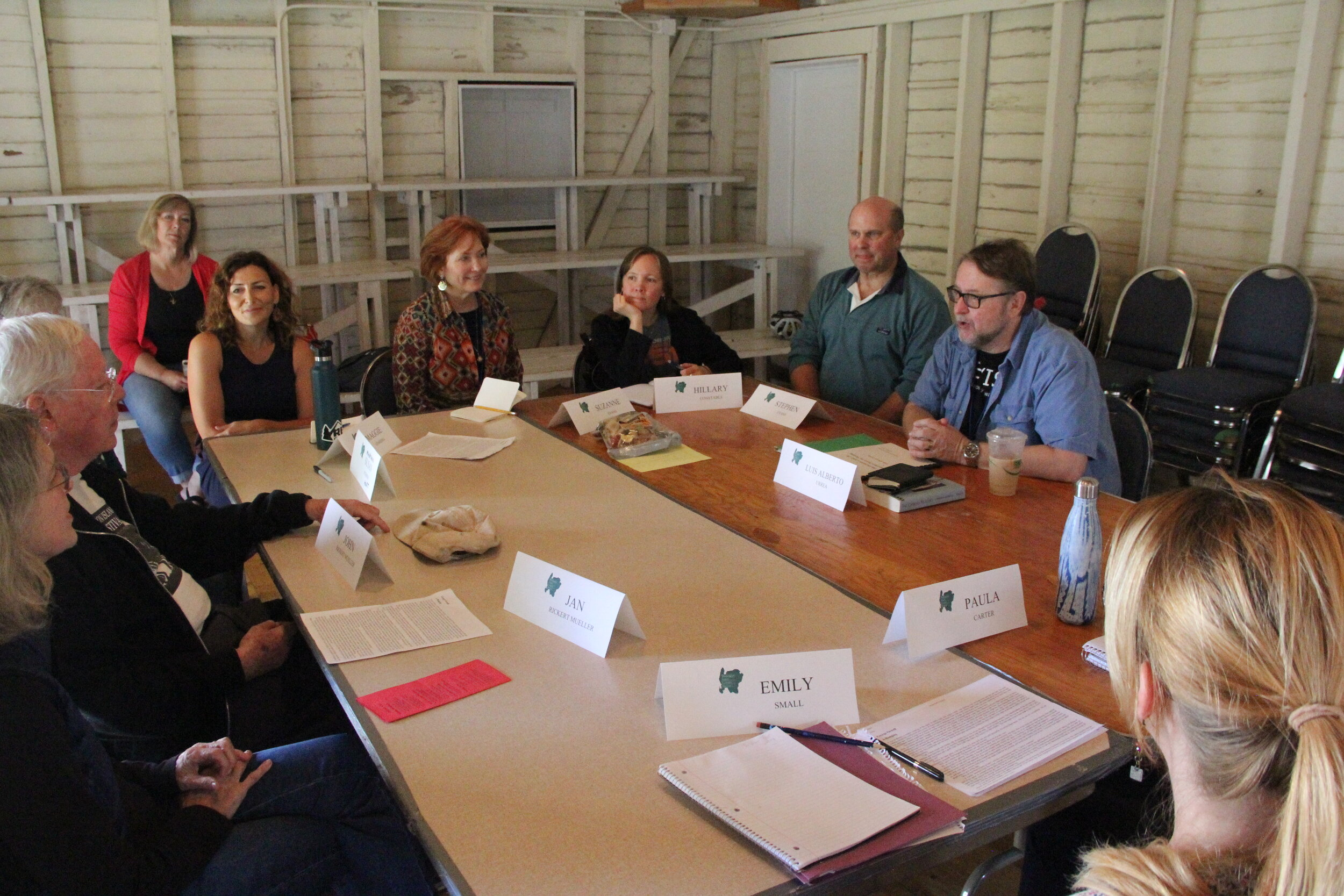 Luis Alberto Urrea's Fiction workshop in the Red Barn