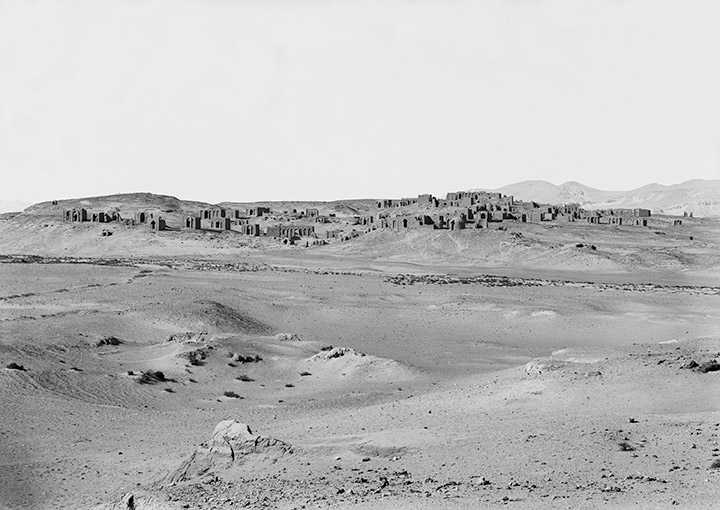 View of Bagawat Necropolis, Kharga Oasis, which contained over 200 tombs arranged along streets