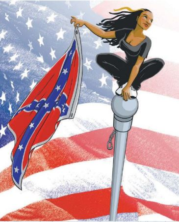 Filmmaker, musician, and activist Bree Newsome is celebrated in art and popular culture for her bravery in scaling a flagpole to remove a Confederate flag from the South Carolina State House in 2015.