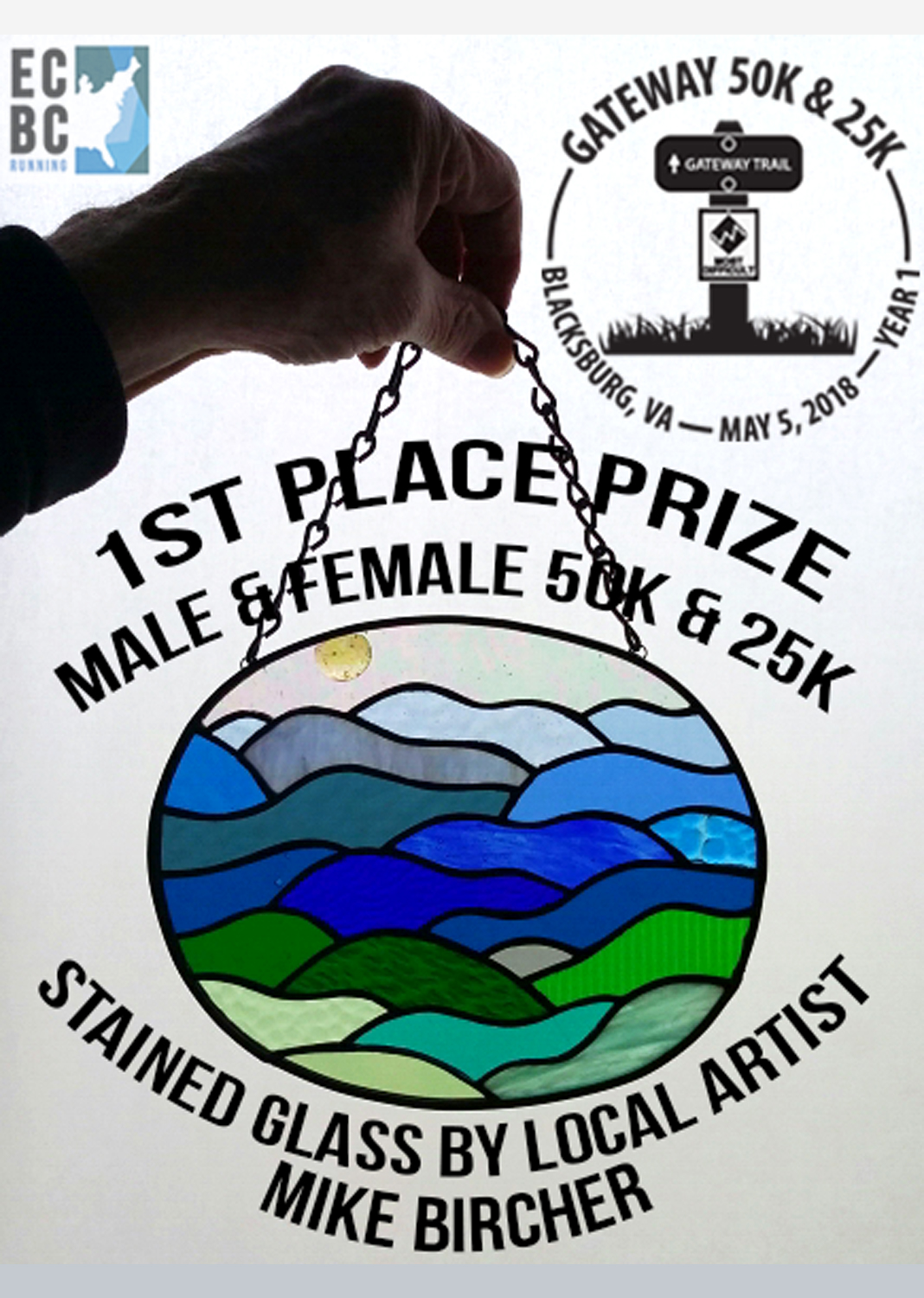 2018 50K male/female champion prize.