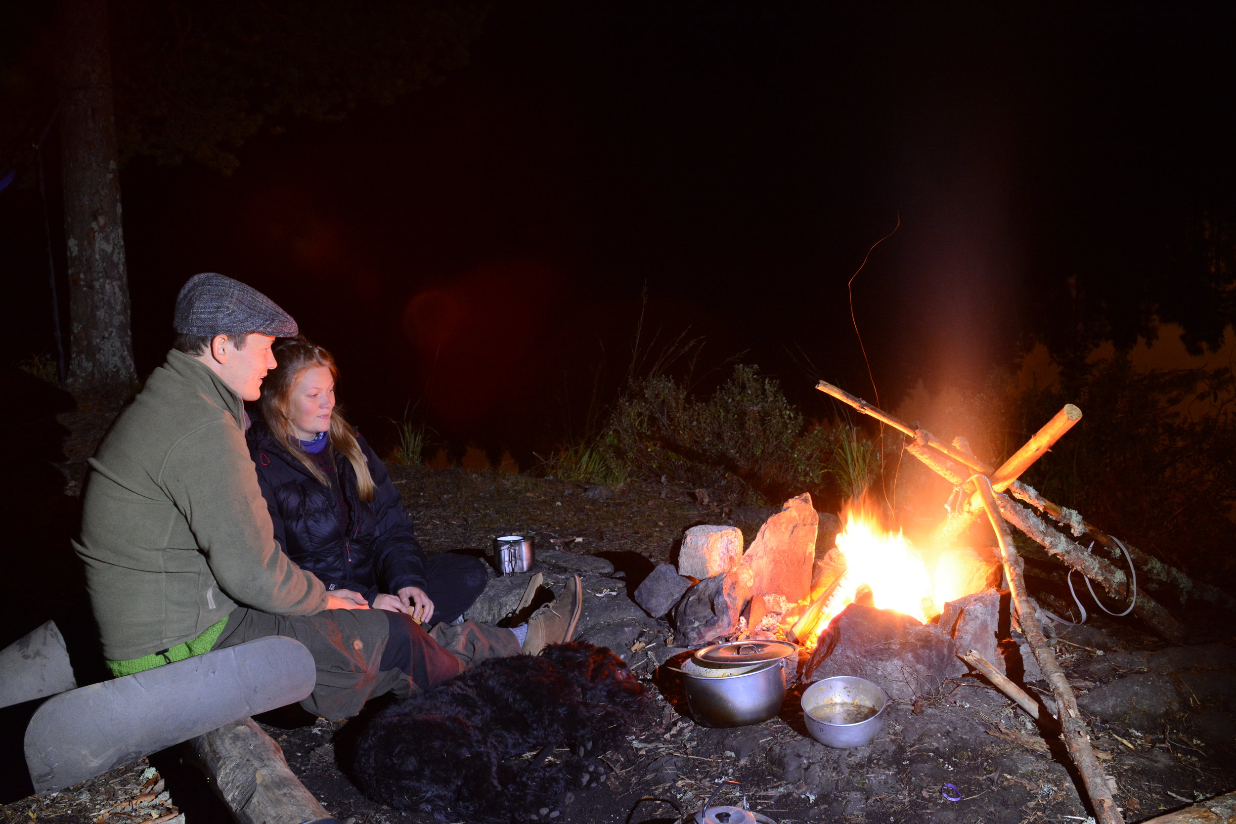 Campfire in Østmarka, where wolves reside. (Photo: Oslo Outdoor)