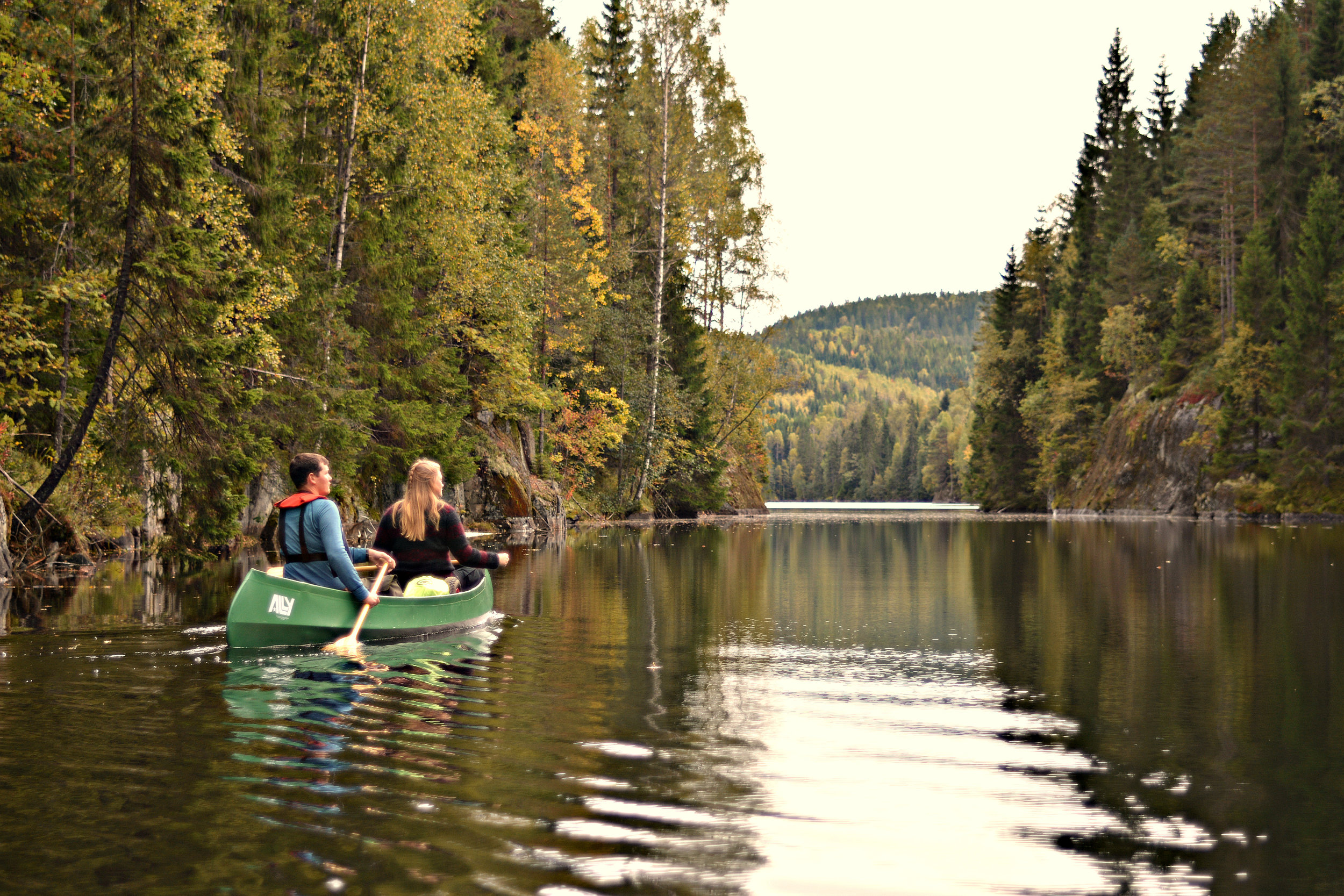 Paddlers in Østmarka (Photo: Oslo Outdoor)