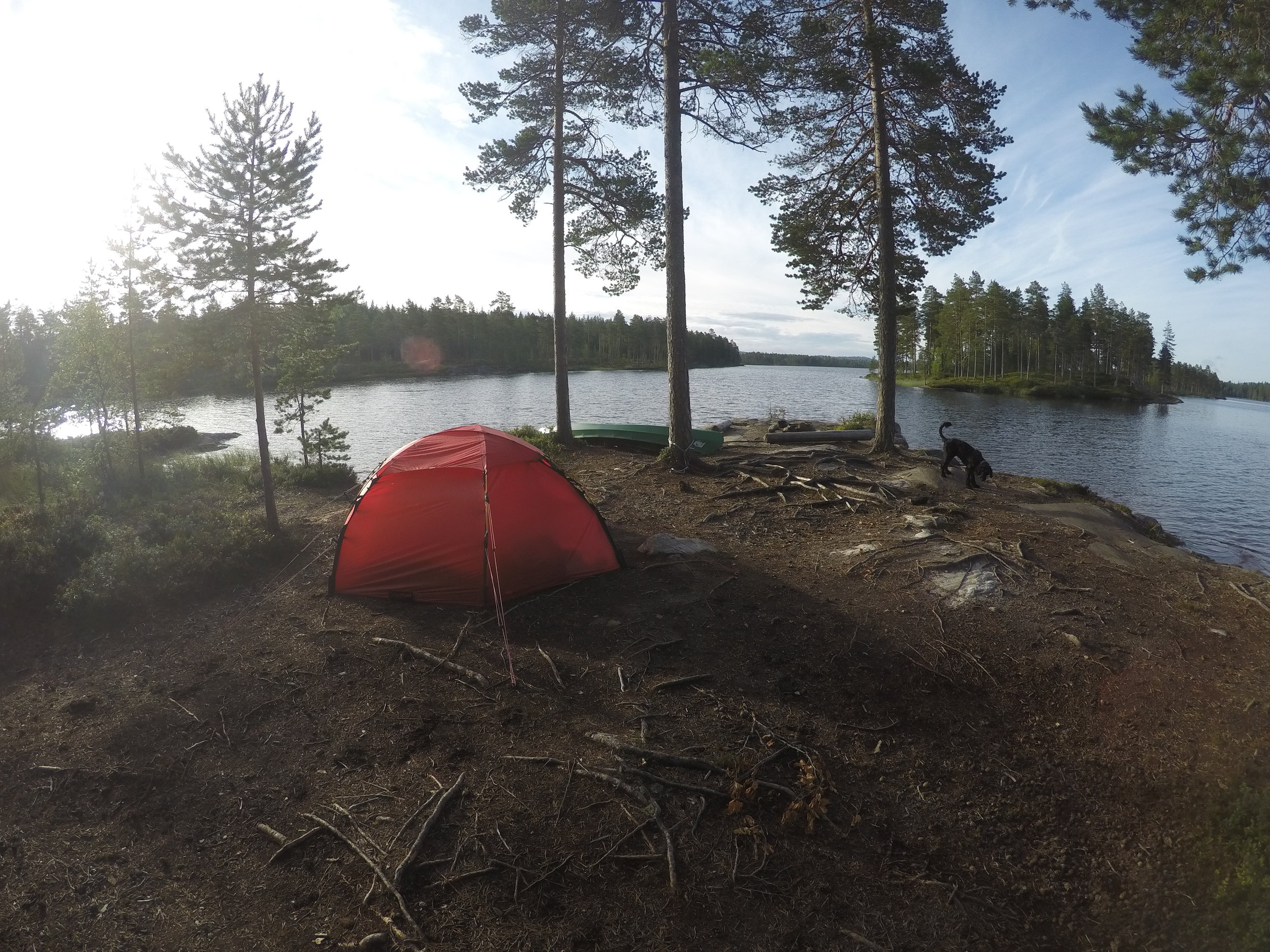 The site for our first night in Fjorda.