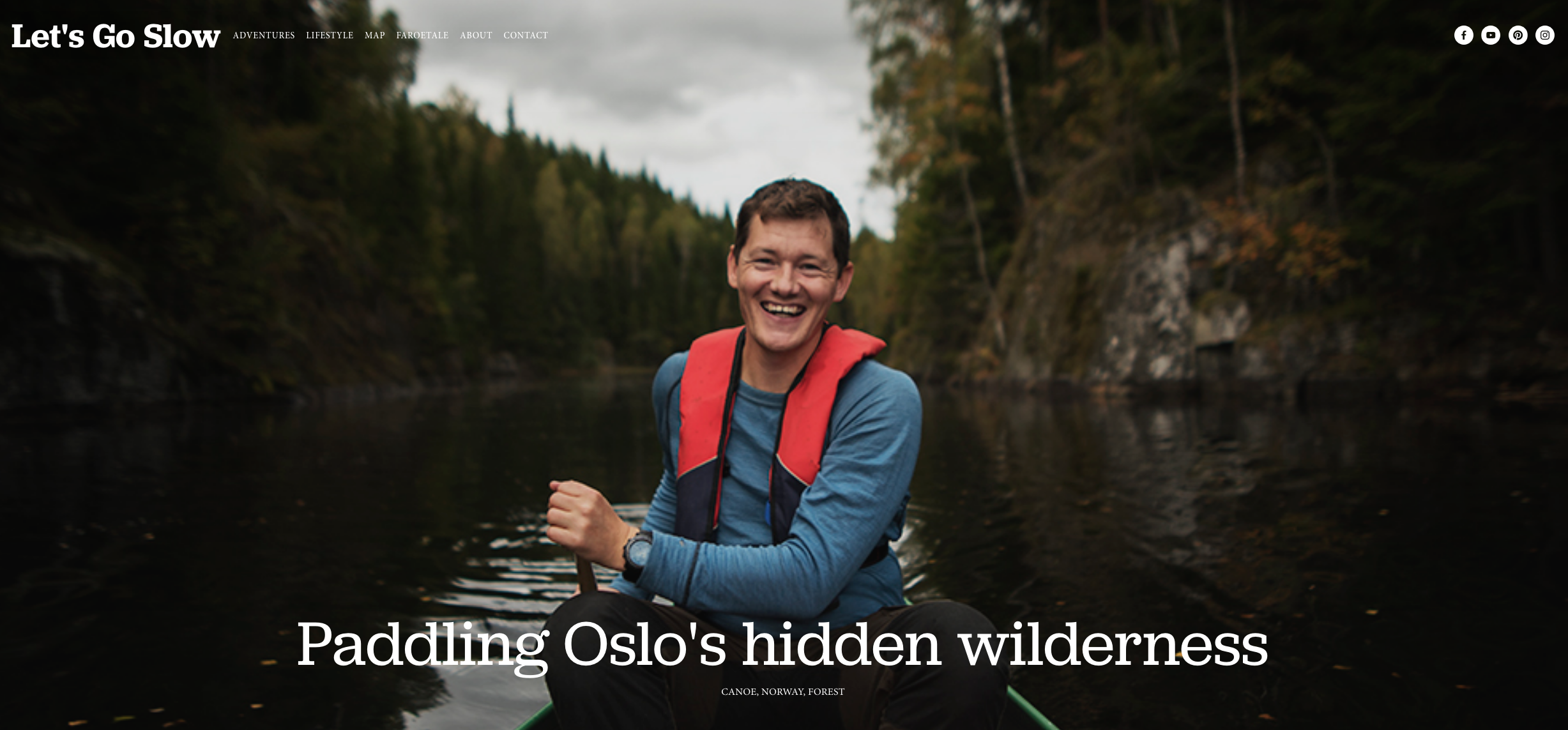 The bloggers from Let's Go Slow joined us for a two-day canoe expedition. Click on the photo to read their story.