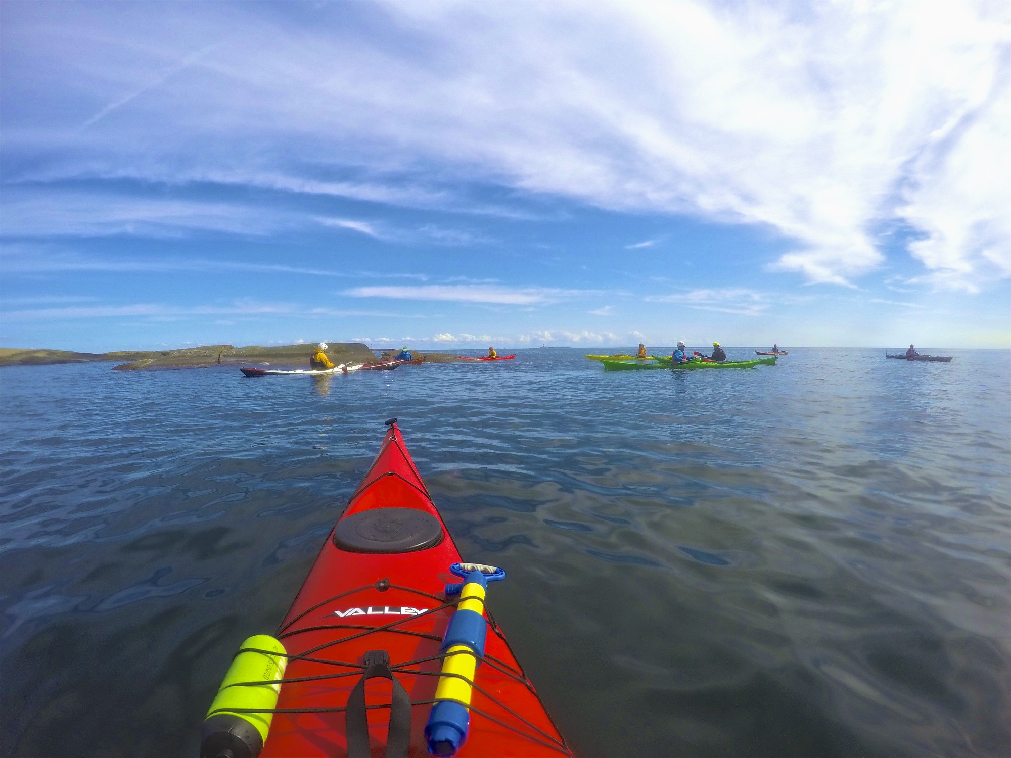 Sea-Kayaking at the outskirts of Færder National Park (Photo: Oslo Outdoor)