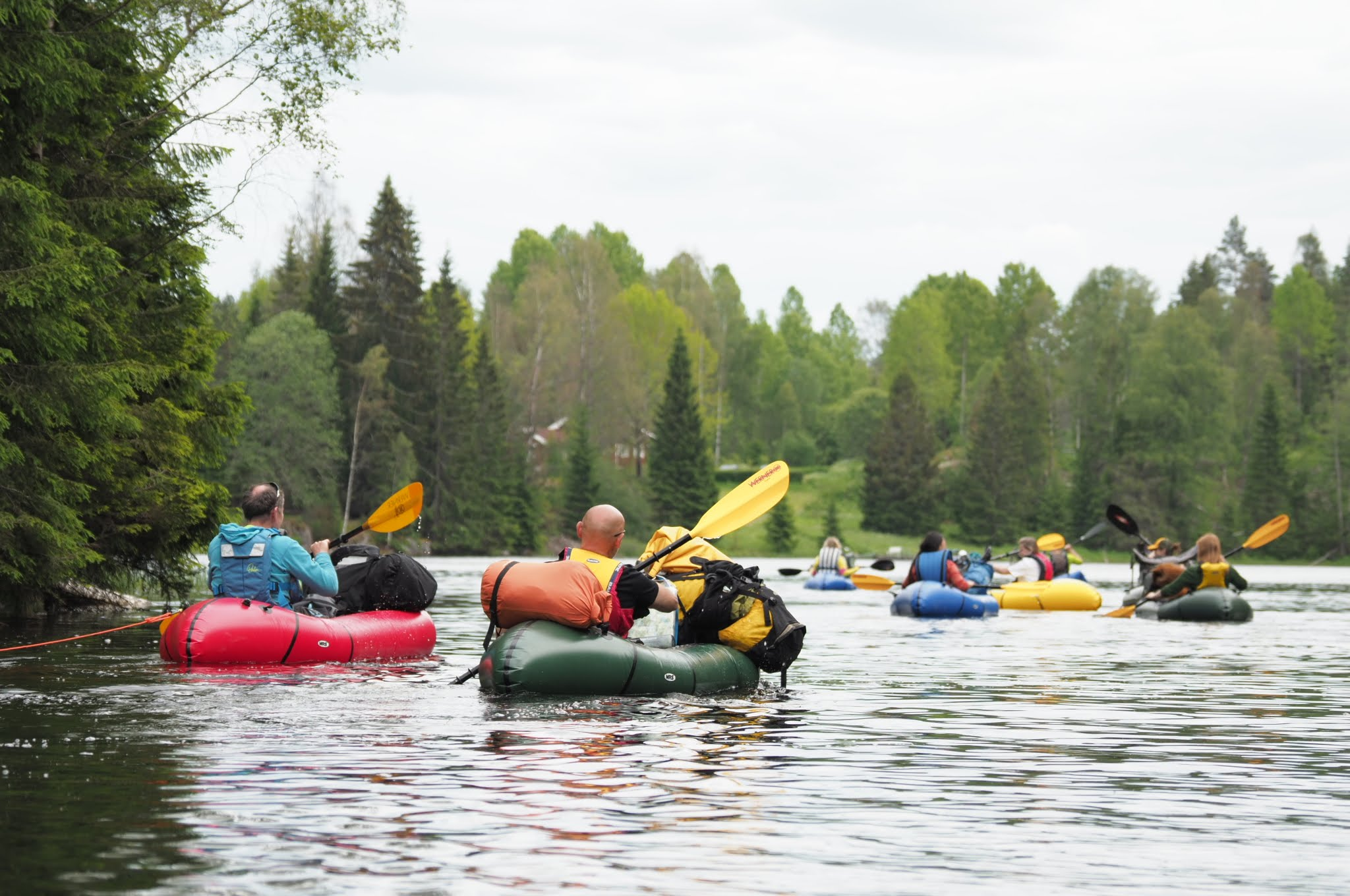 Packrafting on lakes close to Oslo (Photo: Sigurd Stubberud)