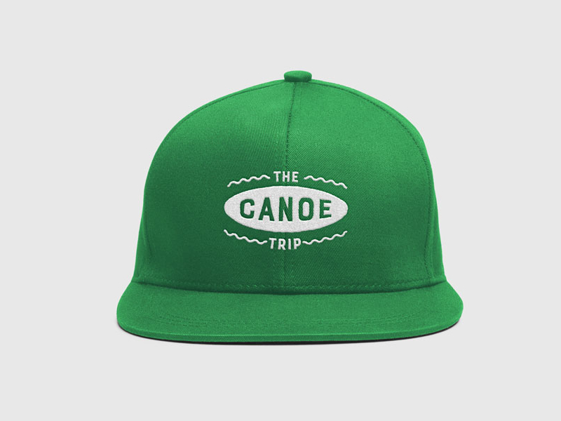 Logo and identity design for 'The canoe trip'.