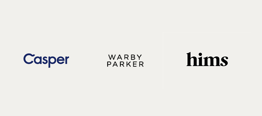Yes, these logos are simple, but look at the overall messaging and identity work .  These are solid brands.
