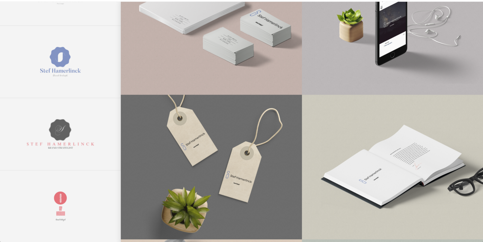 Tailor brands generate a 'full identity', complete with stationery and social media posts.