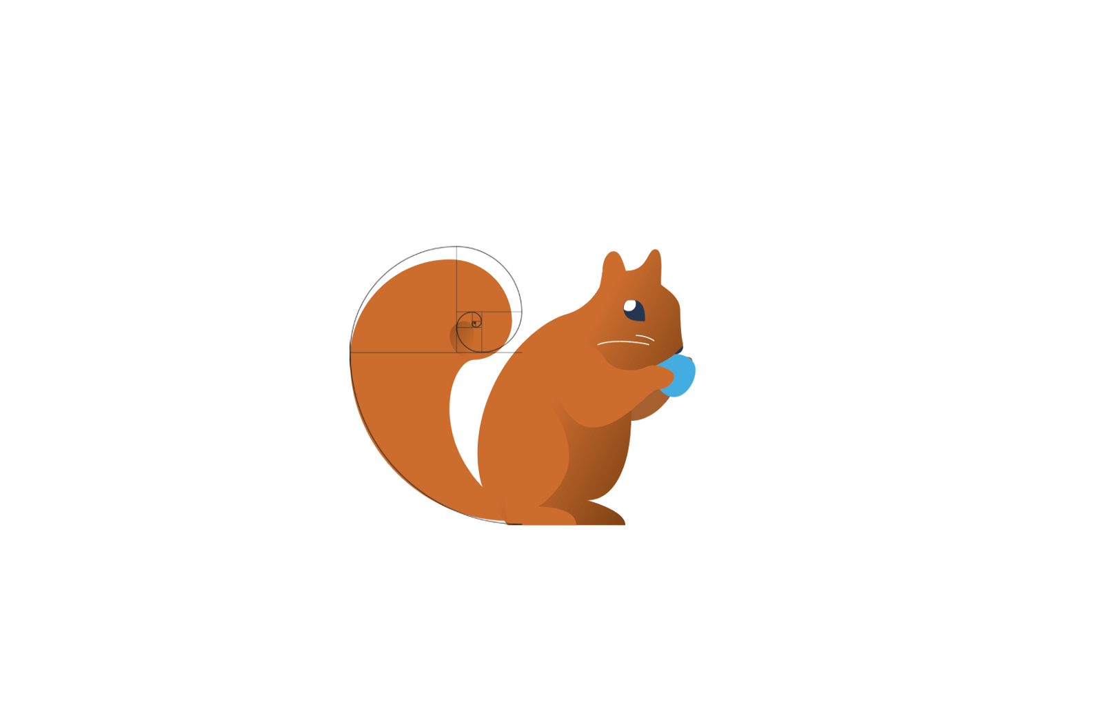 Meet Fibonacci Squirrel. Hey that tail looks a lot like …
