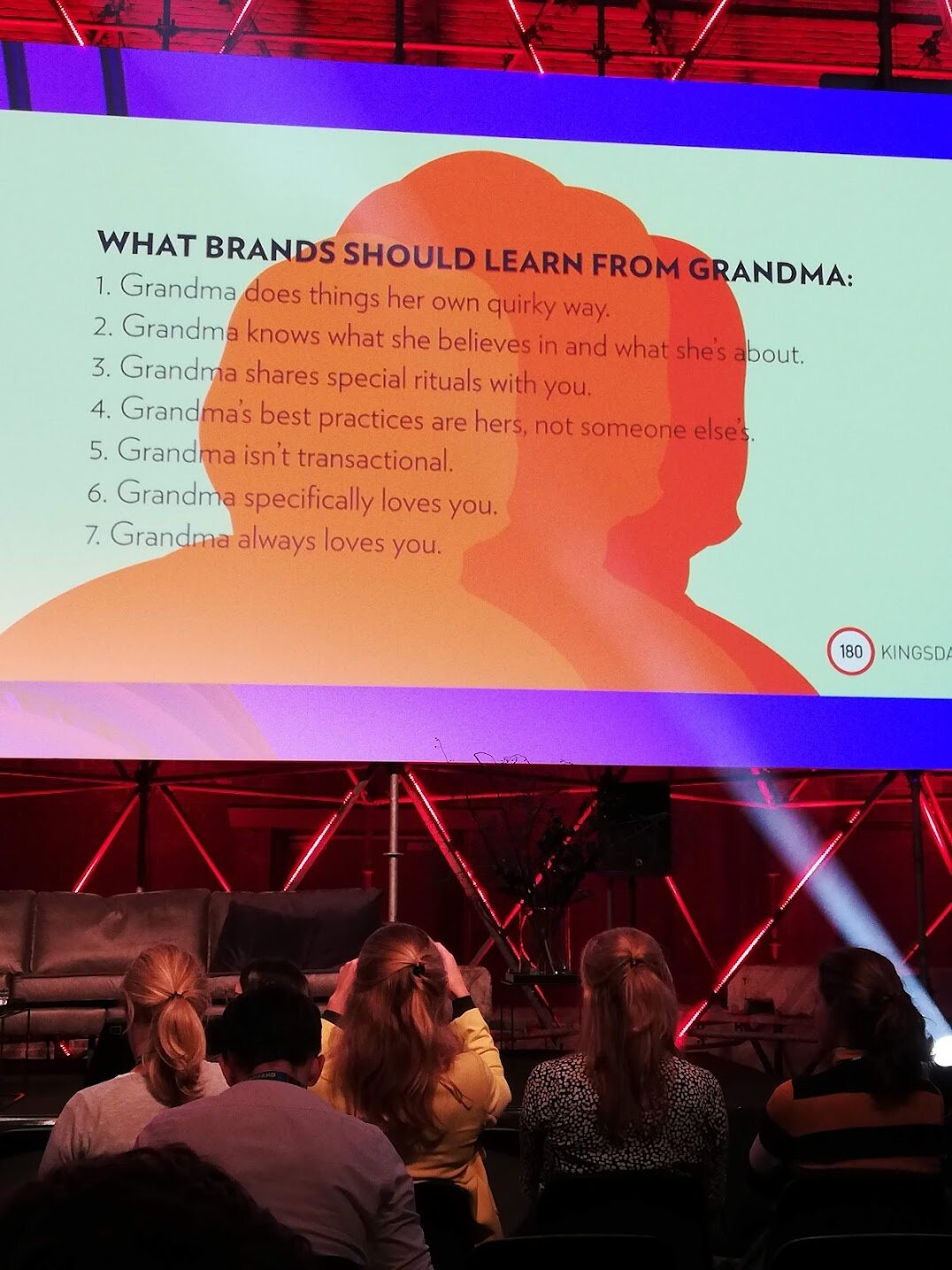 What brands could learn from your grandma. Epic analogy by 180 Kingsday