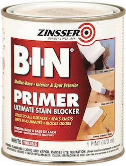 The BIN shellac-base primer I used