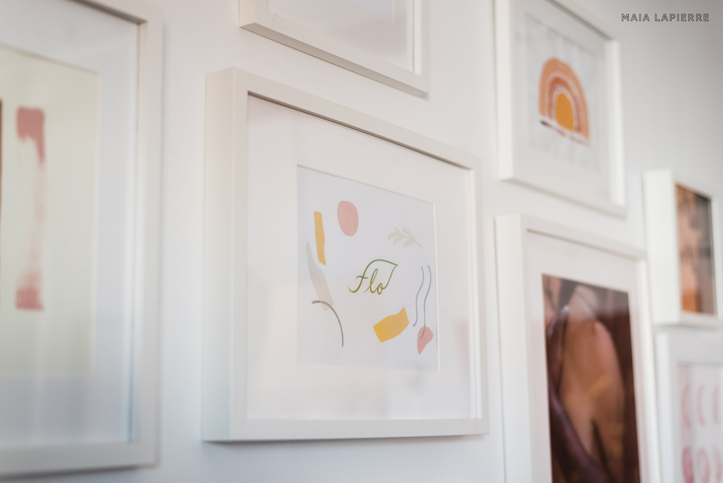 Maia LaPierre Interiors - Flo Meditation Studio Gallery Wall