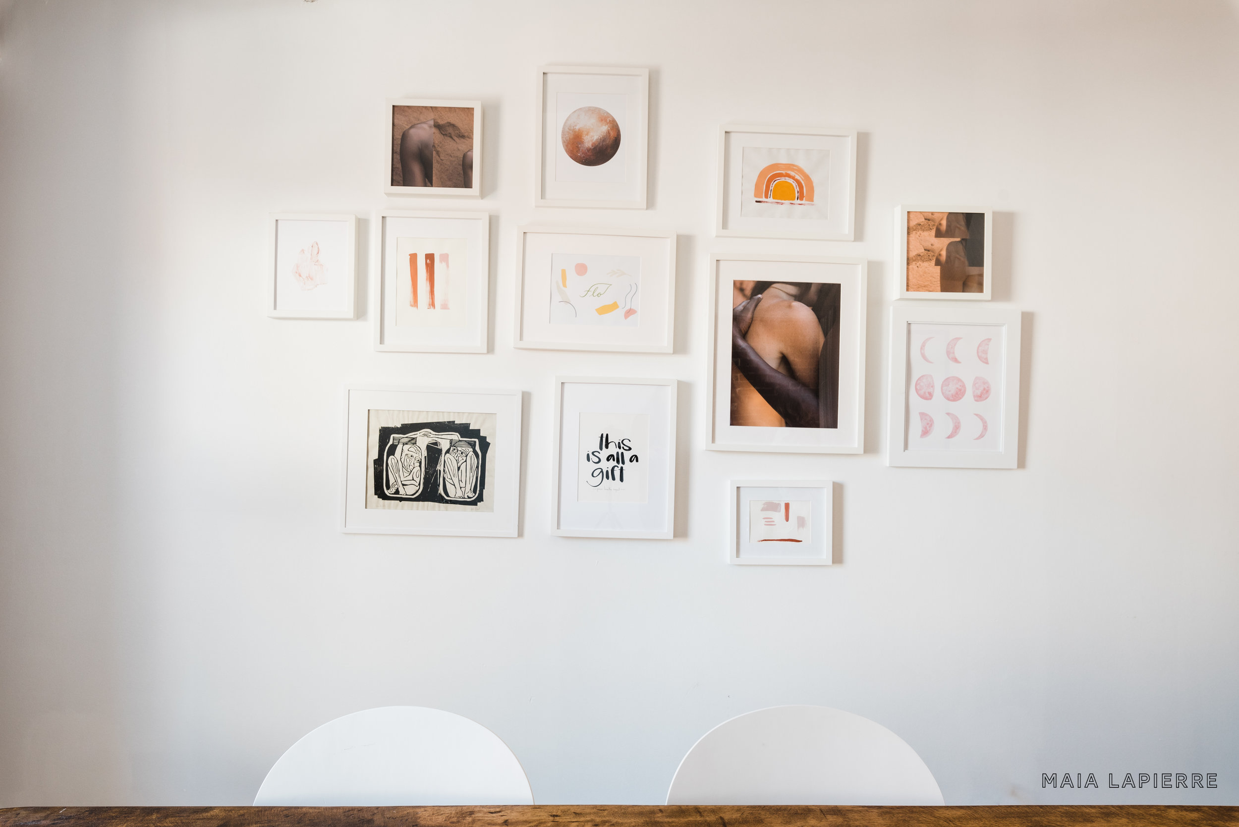 Flo's office gallery wall. Photo by  Rachael Shrum