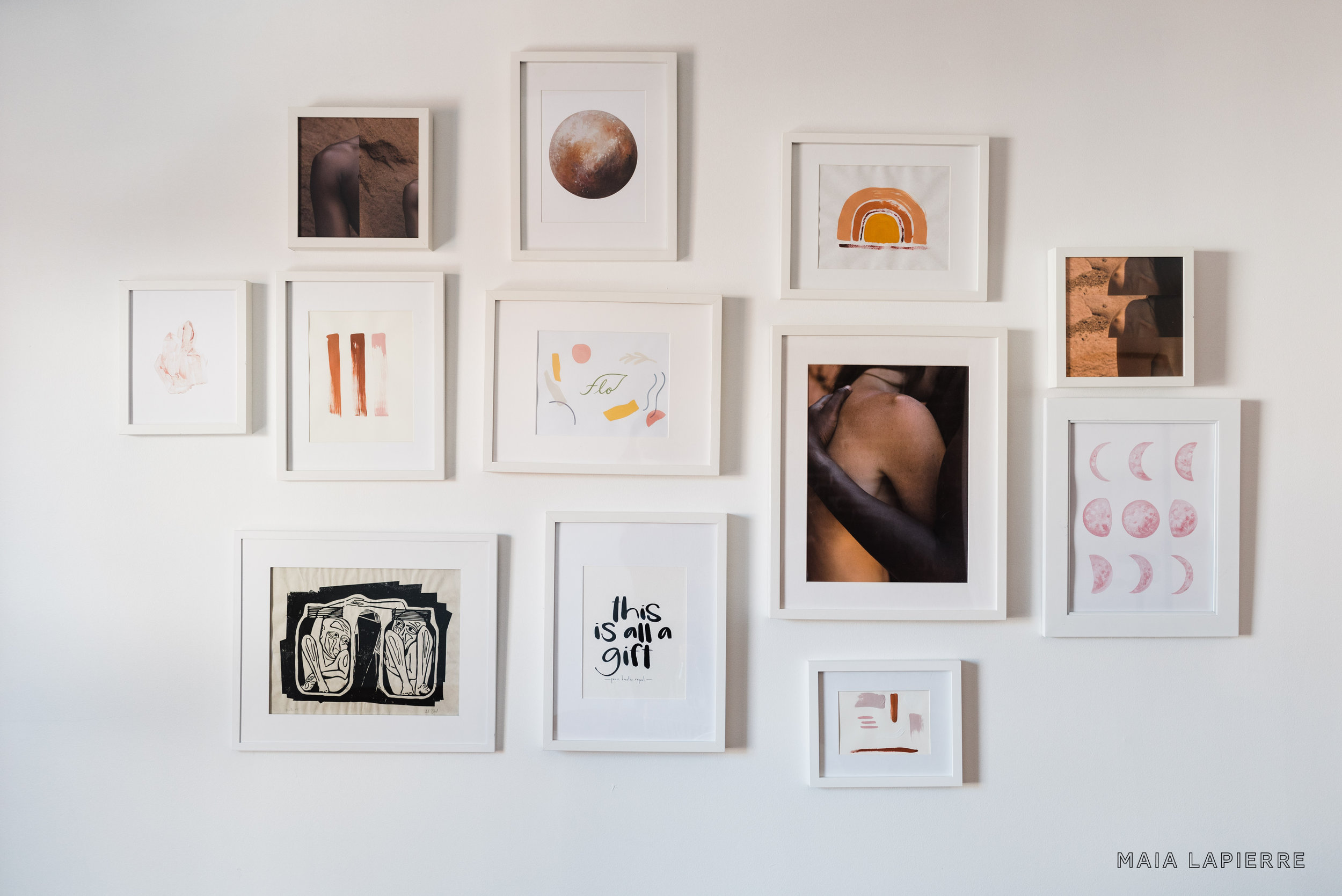 Office gallery wall. Photo by  Rachael Shrum