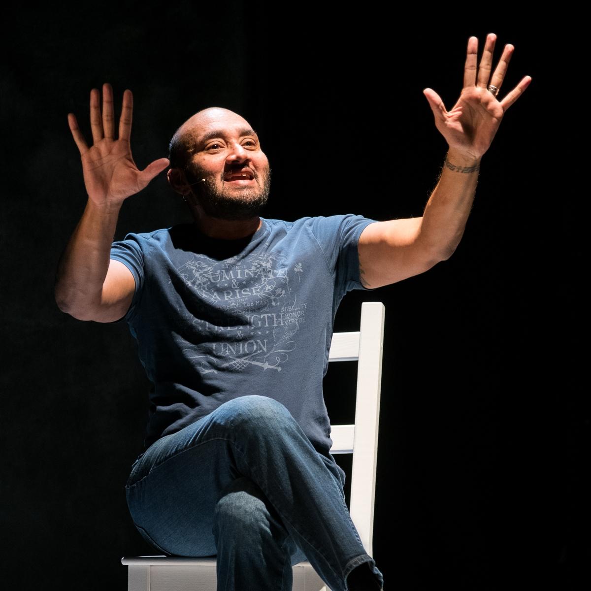 Mashuq Mushtaq Deen in DRAW THE CIRCLE at Rattlestick Platwrights Theatre - Photo by Russ Rowland