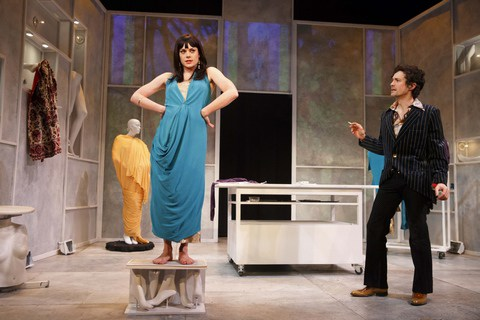 """Tonya Glanz and Christian Coulson In a scene from the Rattlestick Playwrights Theater production of """"Everything You Touch"""" (Photo credit: Joan Marcus)"""