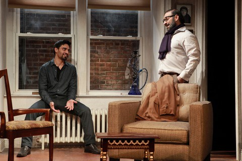 Shesh Yak  Zarif Kabier, left, and Laith Nakli in this play by Mr. Nakli, inspired by the 2011 uprising in Syria, at Rattlestick Playwrights Theater.CreditMichelle V. Agins/The New York Times