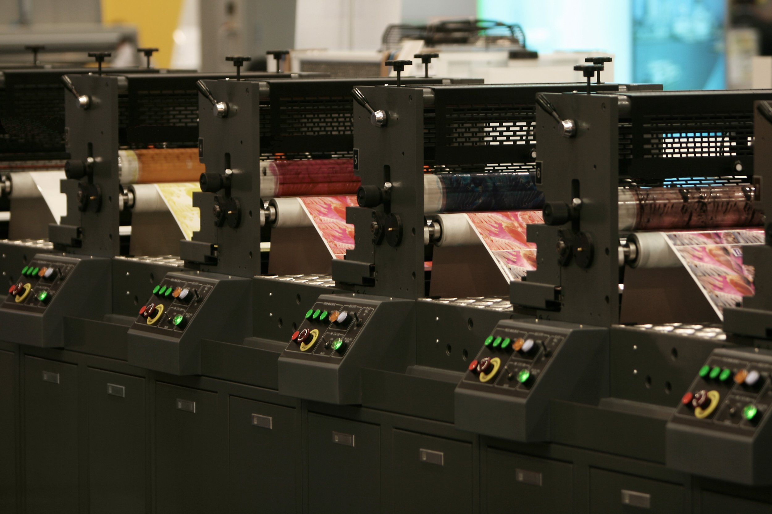 Lithographic Presses - 1 x Ryobi 755 B2 5 Colour with IR Drying 1 x Heidelberg Speedmaster CD B1