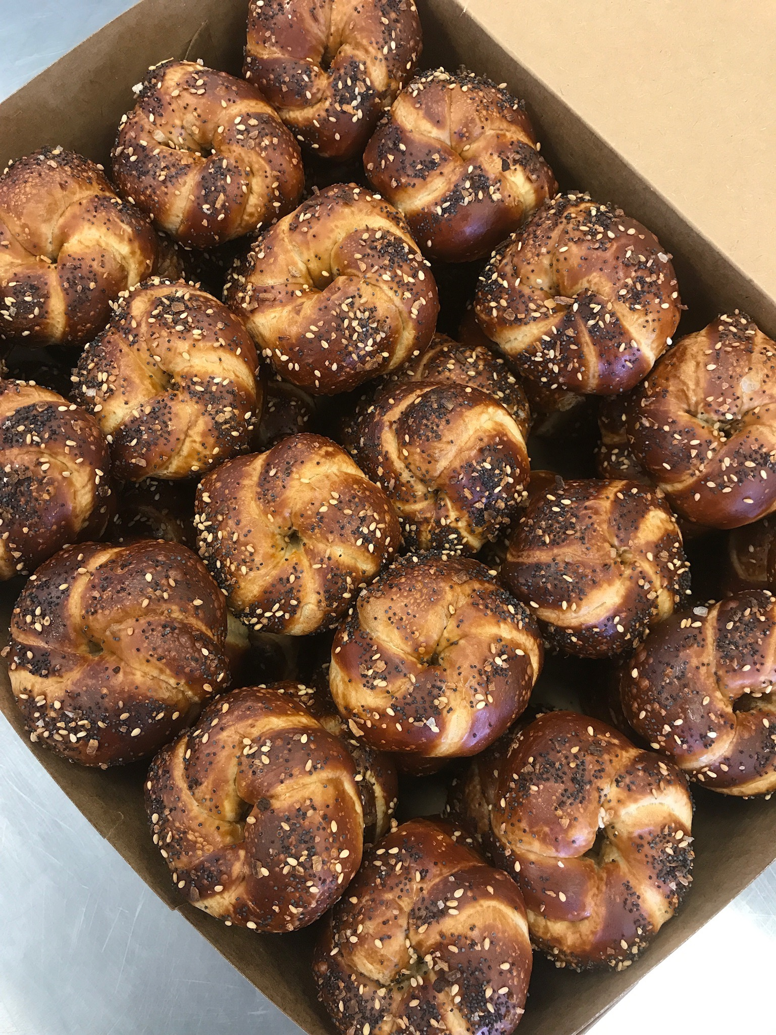 Knots - Bite-sized pretzels with various toppings