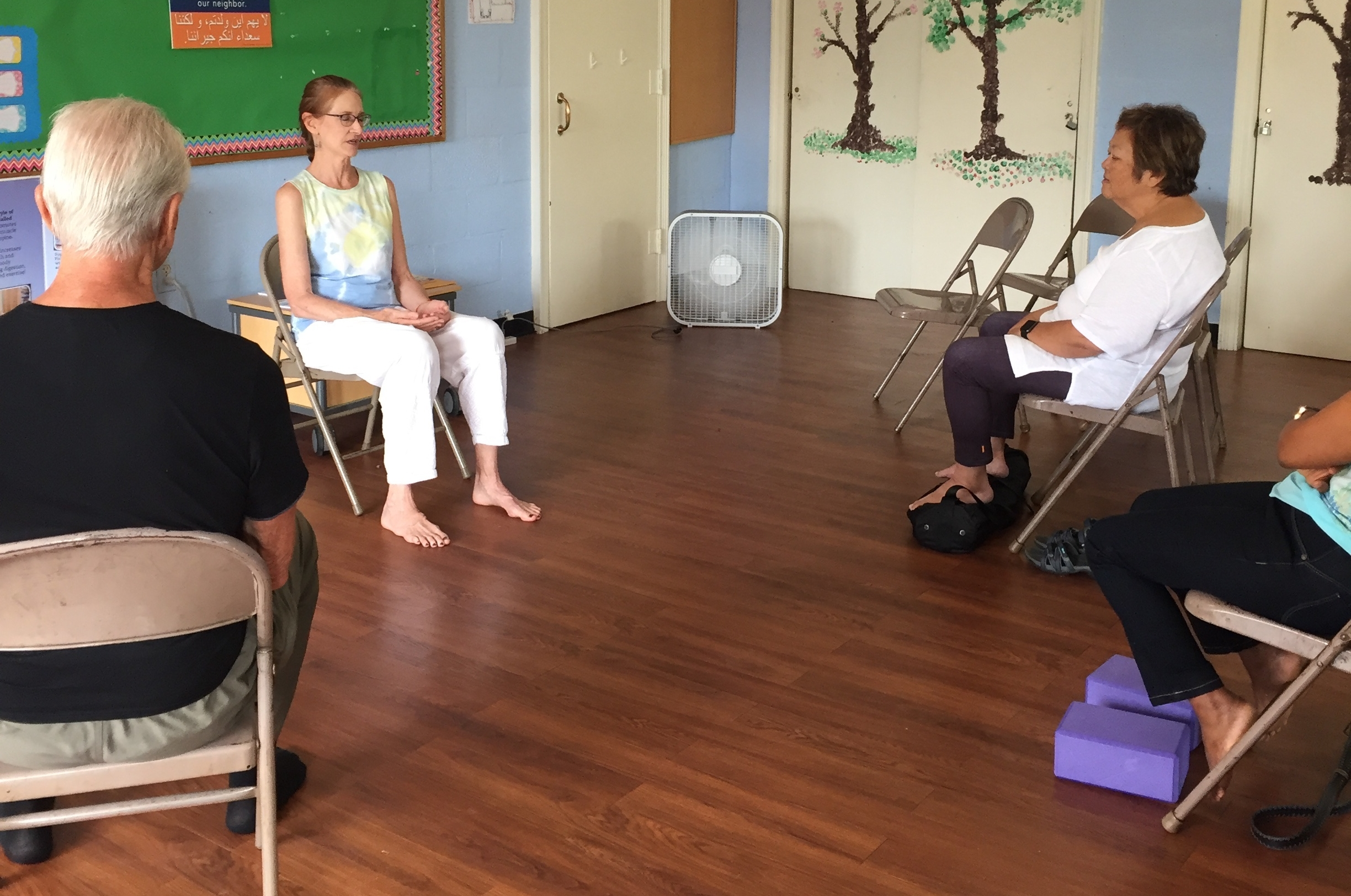 Michèle guiding participants at ASAP Washington, DC, a nonprofit organization; volunteer support. Learn more about ASAP at   www.asylumprojectdc.org  . Photo used courtesy of MiRé Yoga.