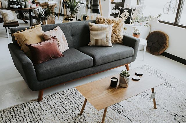 Ready to entertain?  Need a refreshing new look for your living room?  We got you, pop in, let's talk! 📸 @emilyannett